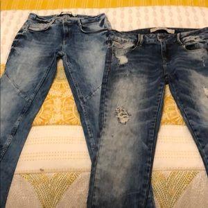 Skinny and slim jeans